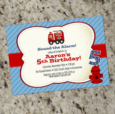 Fire Truck Themed Birthday Party Invitations - as low as .60 ea., shipped!