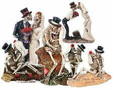 Skeletons Sculptures Love Never Dies Collectible Figurine Statue Married Gift