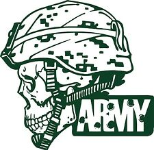 Army Military Police Soldier Skull Camo Car Truck Window Vinyl Decal Sticker