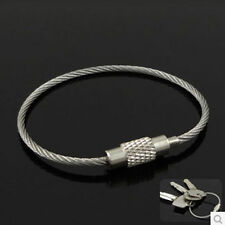 EDC Wire Rope Key Ring Metal Stainless Steel Wire Chain pendant Loop 5 X 110mm