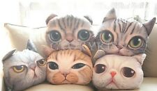 Cartoon Cat Meow Animal Face Head Sofa Gift Plush Cushion Pillow Decor Toy GBW