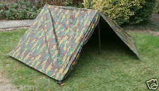 Belgian Army Tent / Basha Sheet 2 Man Shelter Jigsaw Camo Used Military Surplus