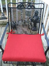 IN / OUTDOOR PATIO UNIVERSAL CHAIR CUSHION WITH TIES - RED SOLID - CHOOSE SIZE