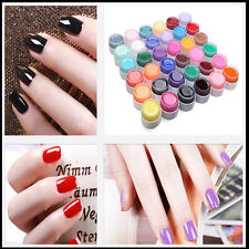 Manicure 36 Pot Pure Color Decor UV Gel Nail Art Tips Lamp Individually color