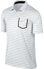 Nike Innovation Engineer Pocket Golf Polo White Dri-Fit 585827-100 Mens S M L XL