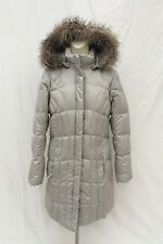 NEW Women's Eddie Bauer Lodge Down Parka Silver NWT Goose Light Gray