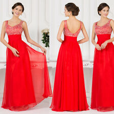 Long Chiffon Evening dress Formal Party Ballgown Prom Bridesmaid Dresses Wedding