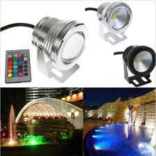 IP68 BOMBILLA 10W RGB LED FloodLight Underwater Light Outdoor Garden Lámpara 12V