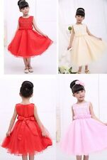 New Girl Formal dress Pageant Wedding Evening Party Dancing 2-7T top grade gowns