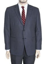 Club Room Classic Fit Blue Textured Two Button Blazer Sportcoat