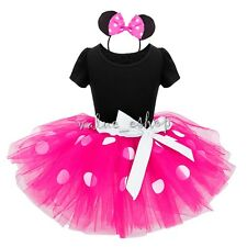 Girls Minnie Mouse Mermaid Birthday Party Costume Kid Ballet Tutu Fancy Dress Up