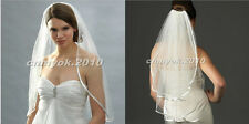 Ivory / White Ribbon Edge Elbow-Length 1 Layer / 2 Layer Bridal Veil