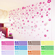 100 Pcs Removable Flower Mural Wall Art Stickers Decals Home Decor Hot