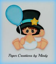 Craftecafe Mindy New Year boy girl premade paper piecing scrapbook page album