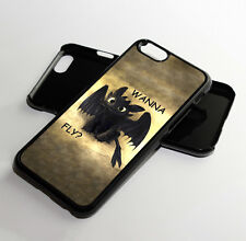 Toothless Night Fury How to Train Your Dragon Quote Case For iPhone Models