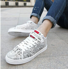 Men's new Lace up casual athletic sneakers England skateboard shoes velcro