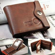 Bifold Wallet Men's PU Leather Brown/Black Credit/ID Card Holder Slim Purse Gift