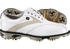 NEW IN BOX MEN'S FOOTJOY DRYJOYS TOUR GOLF SHOES WHITE / BEIGE LIZARD 8.5 - 11.5