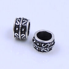 6 Pcs 925 Sterling Silver 5x7mm Vintage Celtic Barrel Spacer Bead Charm WSP235X6
