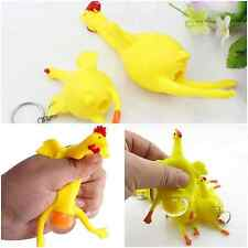 1x Funny Kids Rubber Squeeze Out Chicken Egg Adult Abreact Chicken Vent Toys