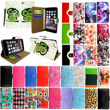 For Various Apple Mobile Phones Printed Leather Wallet Flip Case Cover + Stylus