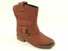 REMONTE DORNDORF by RIEKER ELAINE RED BURNISHED LEA.  BOOT  Sz 7 & 7.5 MSRP $165