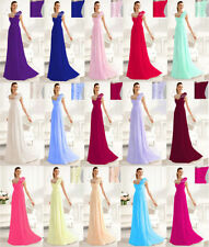 New Long Chiffon Evening Formal Party Prom Ball Gown Bridesmaid Dress IN Stock