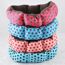 Small Pet Dog Bed Puppy Cat Fleece Warm Cozy Nest House Plush Pad Cotton Mat