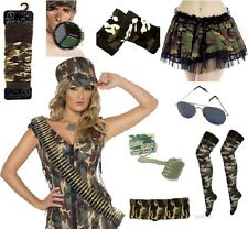 Army Camouflage Military Combat Mens Ladies Fancy Dress Accessories