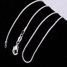 Wholesale lots 5pcs 925 Sterling Silver Snake Chain Necklace 16-30 inch hot sell