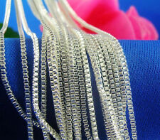 "Hot! Wholesale Lots 5pcs 925 Sterling Silver 1.4mm Box Chain Necklace 16""-30"""
