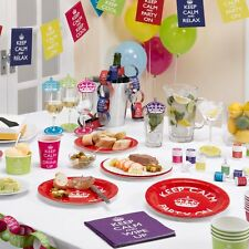 KEEP CALM & Party! Tableware & Decorations - 30th, 40th, 50th Birthday Ideas