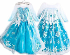 Kid Frozen Anna Elsa Dress Up Party Costume Ice Princess Gown Size 2-8T/100-140