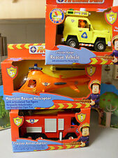 FIREMAN SAM NEPTUNE  HELICOPTER  RESCUE CAR   NEW