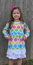 Multi colored ruffle dress prefect for Easter SHIPS FREE