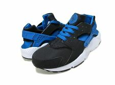 Nike Huarache Run GS Black Lyon Blue White-White 654275-005 Kids Shoe Sz5.5-7Y