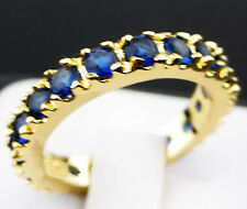 Blue Sapphire Woman Lady's 10KT Yellow Gold Filled Ring Size size7/8/9  -A34