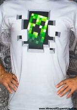 OFFICIAL LICENSED MINECRAFT CREEPER INSIDE GREY MEN'S T SHIRT SIZE 2XL