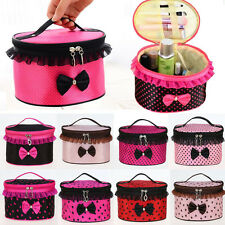 Makeup Bow Lace Cosmetic Bag Travel Toiletry Zipper Wash Case Organizer Pouch