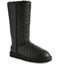 UGG Australia Classic Tall Leather DIAMOND QUILTED Boots US 6 7 8 9 10 11