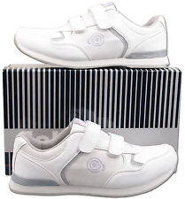 Mens New White Bowls Bowling Trainer Style Shoes Size 6 7 8 9 10 11 12