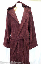 Mens luxury 100% cotton hooded bathrobe dressing gown S M L XL No5 Defective
