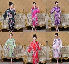 Charming Chinese Silk Women's Kimono Robe Gown sleepwear