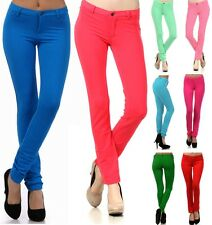 Colorful Skinny Jeans Cotton Spandex Jeggings Stretchy Slim Pants