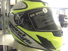 Speed and Strength SS2000 Twist Of Fate Helmet HiVis High Viz Yellow LARGE L LG