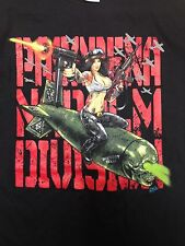 Pasadena Napalm Division PND Girl on Bomb Black T-Shirt One-Sided P.N.D. Texas