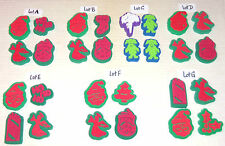 YOUR CHOICE JUST $5 FOR A LOT OF 4 CHRISTMAS HOLIDAY MINI FOAM RUBBER STAMPS NEW