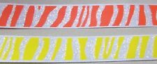 "5 yards of ZEBRA ANIMAL PRINT SATIN RIBBON  5/8"" w  (your choice of 2 colors)"