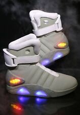 Back To The Future II LIGHT UP Shoes SNEAKERS Marty McFly Nike Mag Size 6-13