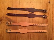 NEW Leather Saddle Stirrup hobbles Amish Crafted Made USA pair straps horse